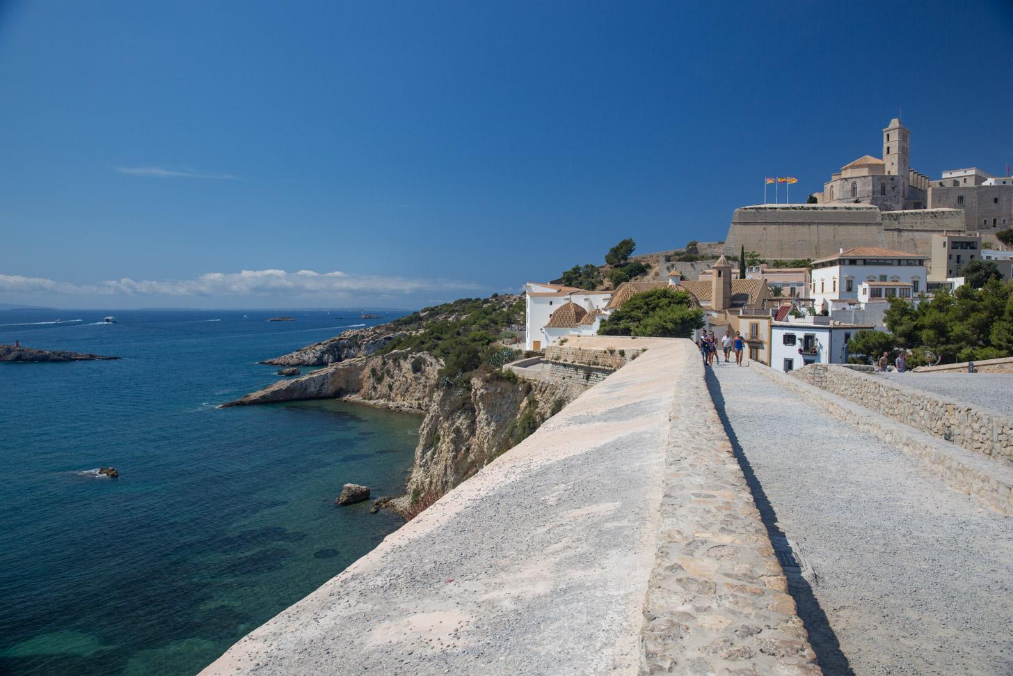 zonnig weer op Ibiza