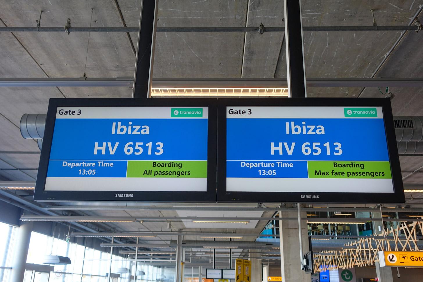 Vliegen naar Ibiza